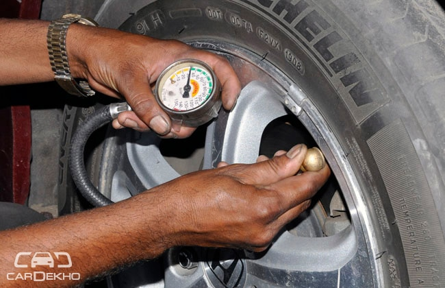 Checking-of-tyre-pressure