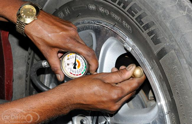 Ensure correct tyre pressure