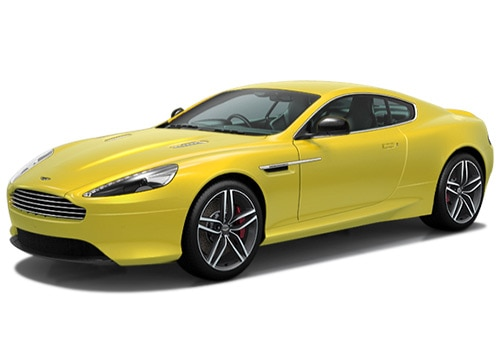 Aston Martin DB9 Yellow Color Pictures