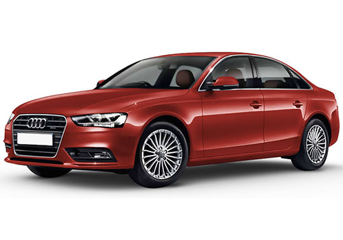 Audi S4 Volcano Red Color