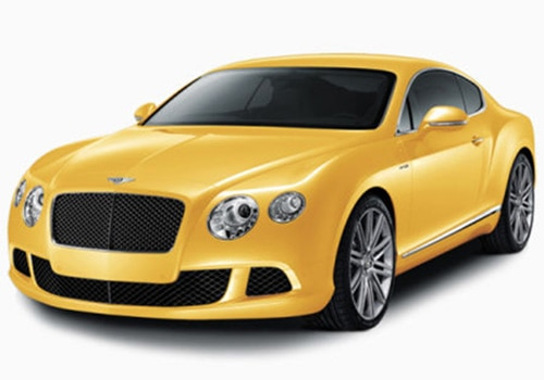 Bentley Continental yellow Color Pictures