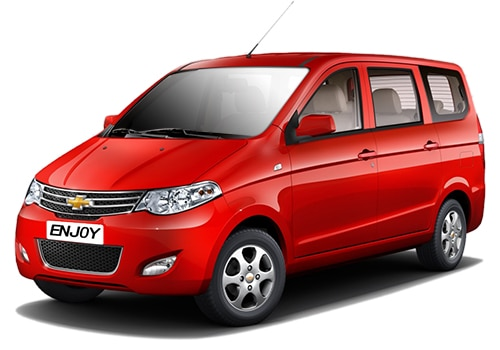 Chevrolet Enjoy Red Color Pictures