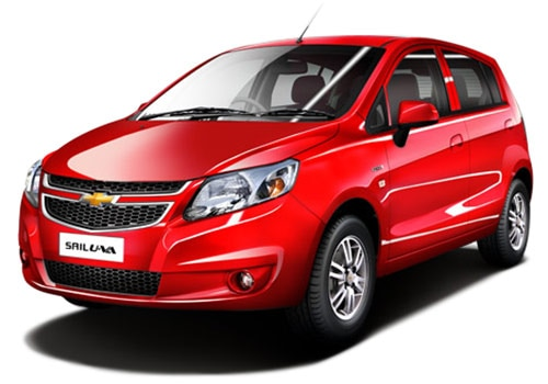 Chevrolet Sail UVA Red Color Pictures