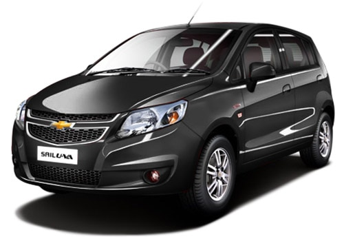 Chevrolet Sail Hatchback Caviar Black Color Picture