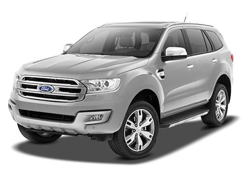 Ford Endeavour Diamond White Color Picture