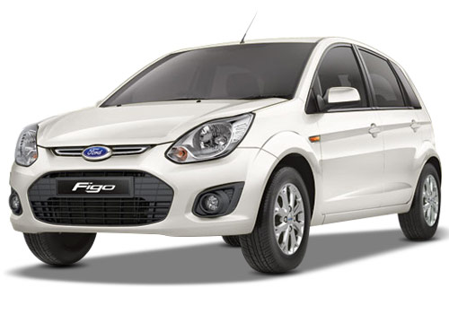 Ford Figo White Color Pictures