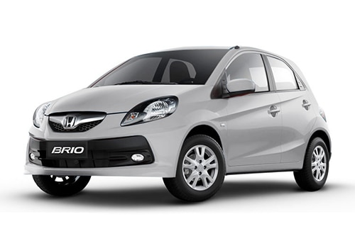 Honda Brio Tafeta White Color