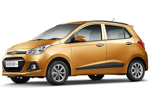 Hyundai Grand i10 Golden Orange Color Picture
