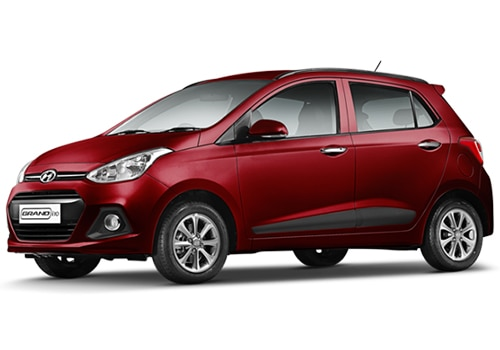 Hyundai Grand i10 Red Color Pictures