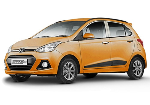 Hyundai Grand i10 Golden Orange Color