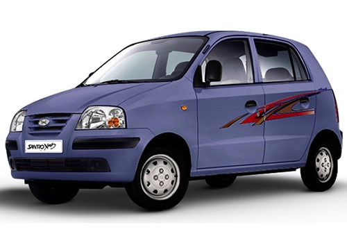 Hyundai Santro Twilight Blue Color