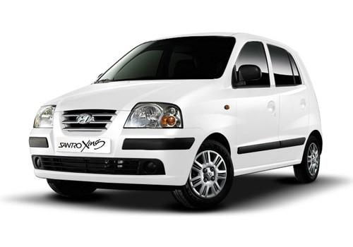 Hyundai Santro Coral White Color