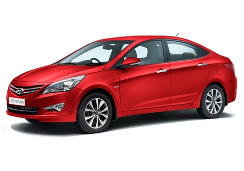 Hyundai 4S Fluidic Verna Passion Red Color