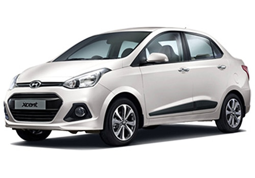 Hyundai Xcent Pure white Color