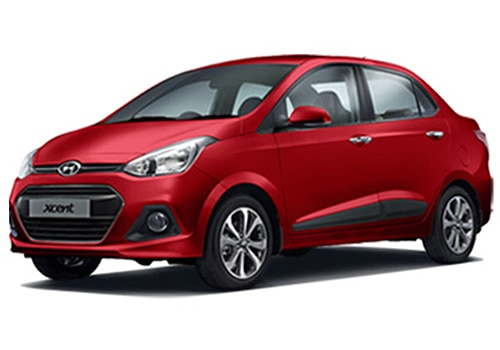 Hyundai Xcent Passion Red Color Picture
