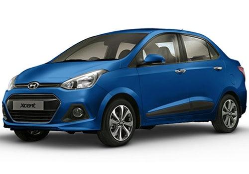 Hyundai Xcent Pristine Blue Color