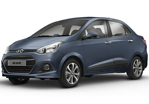 Hyundai Xcent Twilight Blue Color
