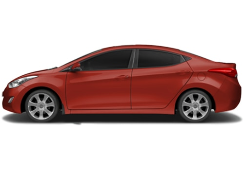 Hyundai Elantra Red Color Pictures