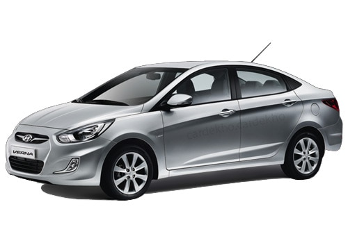 Hyundai Verna Fluidic Sleek Silver Color