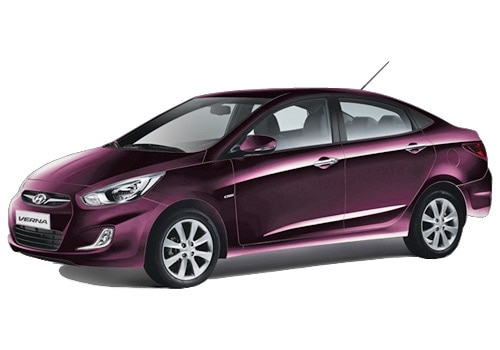 Hyundai Verna Fluidic Purple Color Pictures