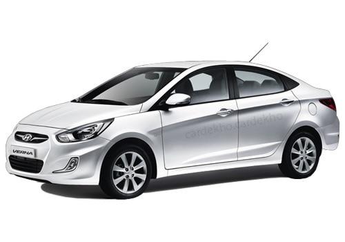 Hyundai Verna Fluidic Crystal White Color