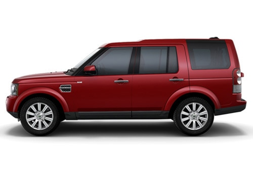 Land Rover Discovery 4 Red Metallic Color Pictures