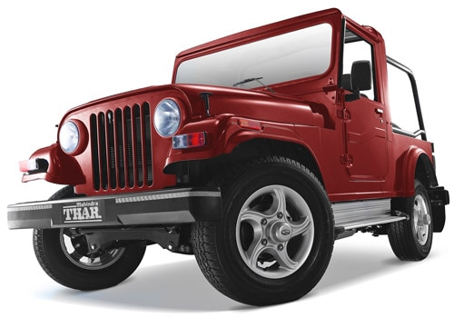 Mahindra Thar Red Color Pictures