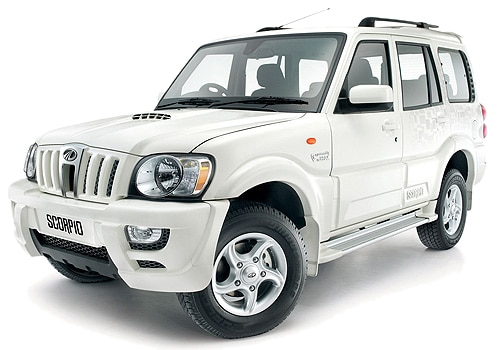 Mahindra Scorpio Diamond White Color Picture