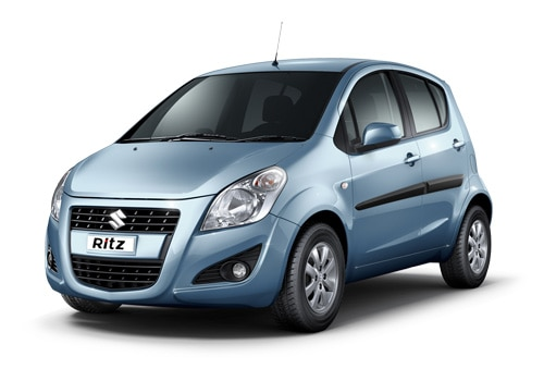 Maruti Ritz Blue Color Pictures