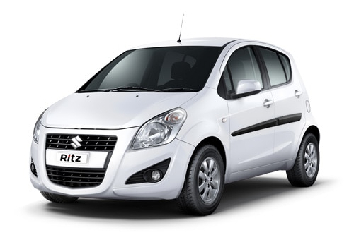 Maruti Ritz Superior white Color Picture