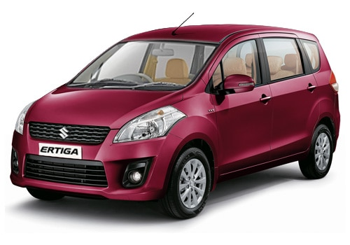 Maruti Ertiga Red Color Pictures