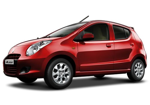 Maruti A-Star Bright red Color