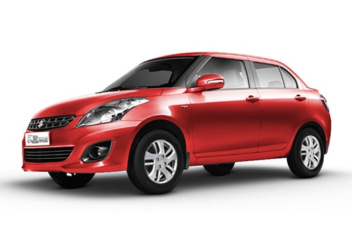 Maruti Swift Dzire Bright red Color