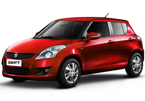 Maruti Swift Metallic  Blazing Red Color