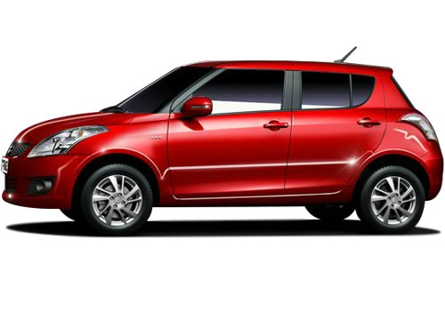 Maruti Swift Red Metallic Color Pictures