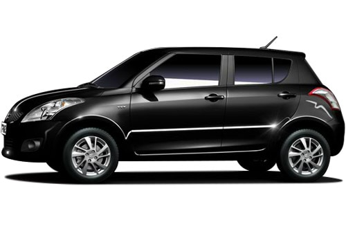 Maruti Swift Metallic Black Color Pictures