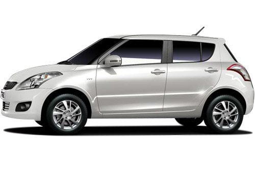 Maruti Swift Metallic White Color Pictures