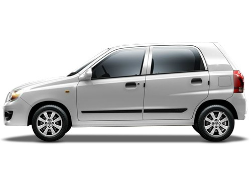 Maruti Alto K10 White Color Pictures