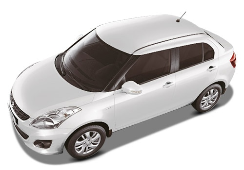 Maruti Swift Dzire Arctic White Color Picture