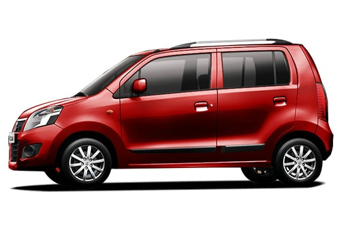 Maruti Wagon R Red Color Pictures