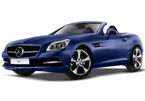 Mercedes Benz Slk Class Blue Color Pictures Cardekho India