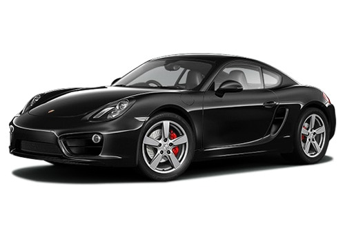 Porsche Cayman Metallic Black Color Pictures
