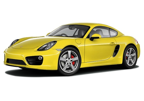 Porsche Cayman Yellow Color Pictures