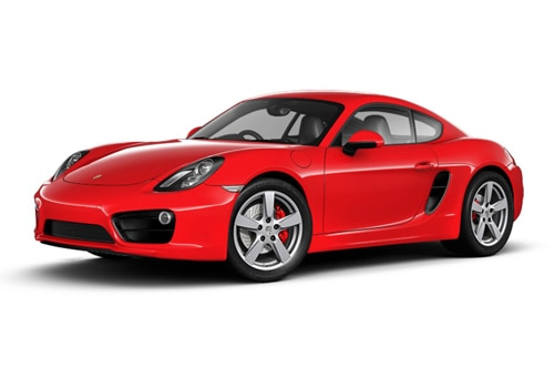 Porsche Cayman Guards Red Color