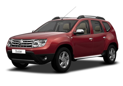 Renault Duster Metallic Red Color Pictures