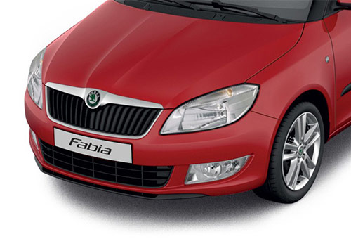Skoda Fabia Flash Red Color Picture
