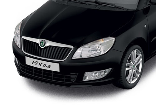 Skoda Fabia Black Color Pictures