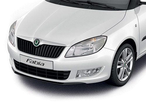 Skoda Fabia White Color Pictures