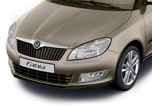 Skoda Fabia Beige Color Pictures