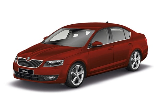 Skoda Octavia Rio Red Color
